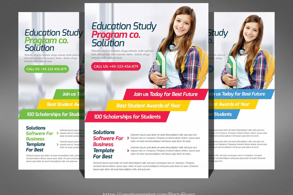 Kids School Flyer Psd example image 1