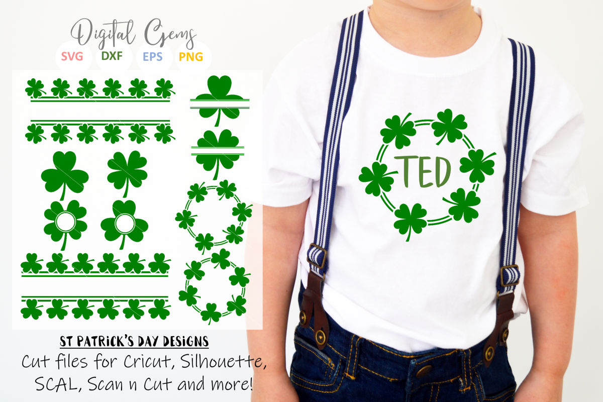 St Patrick's day Shamrock / Clover designs example image 1