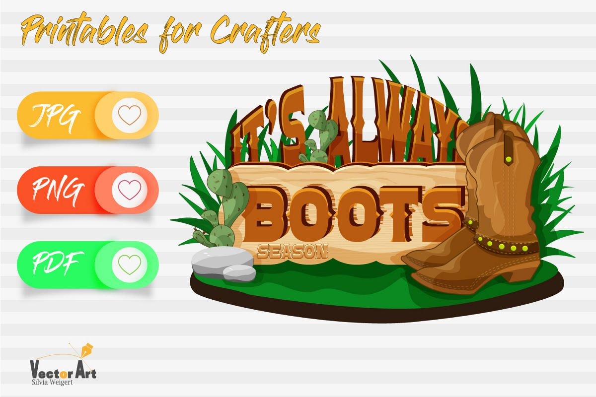It's always boot season - Printables for Crafters example image 1