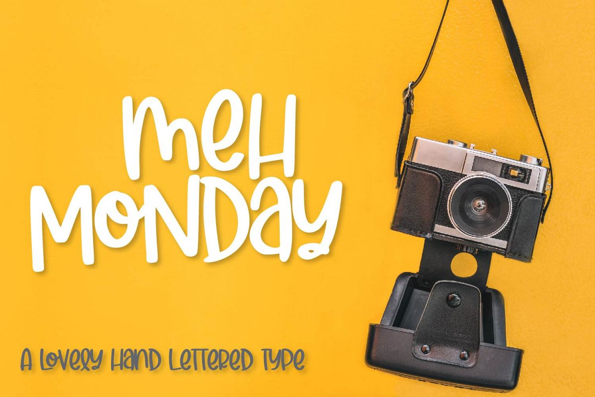 Meh Monday - A lovely hand lettered type example image 1