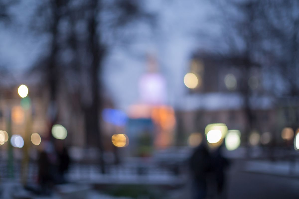 Blurred  european city during sunset example image 1
