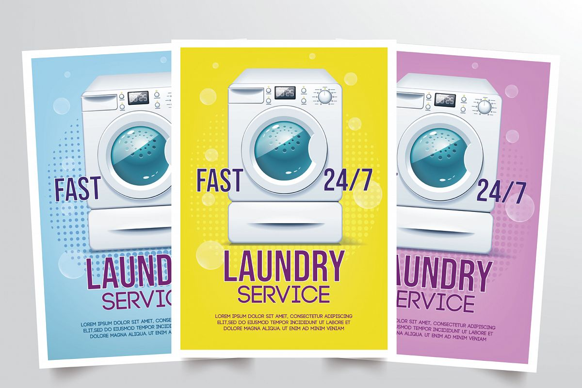 Laundry Flyer Template example image 1