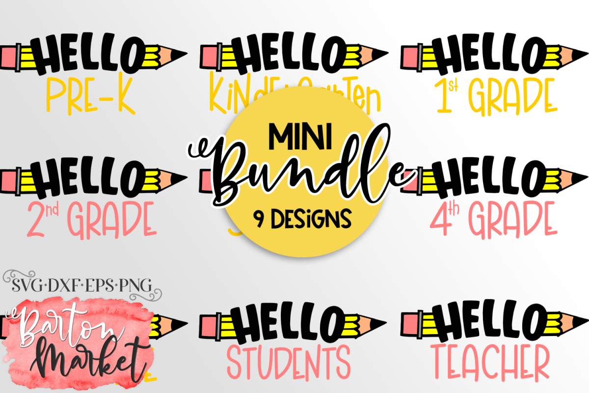 Mini BUNDLE 9 School Designs example image 1