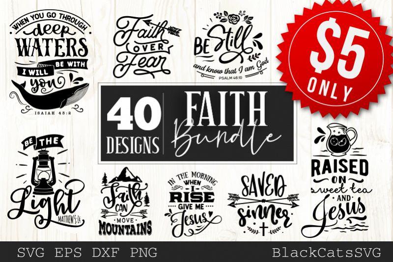 Faith SVG bundle 40 designs Christian SVG bundle example image 1