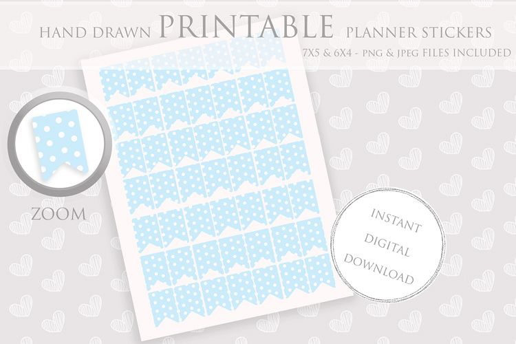 picture about Stickers Printable known as Printable Planner Stickers Web site Tab - Flag - polka Sticker