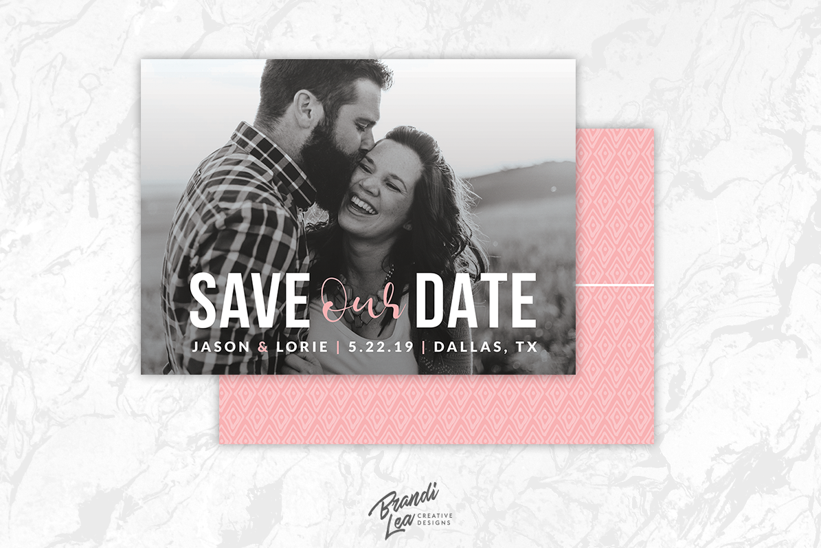 save the date card template example image 1
