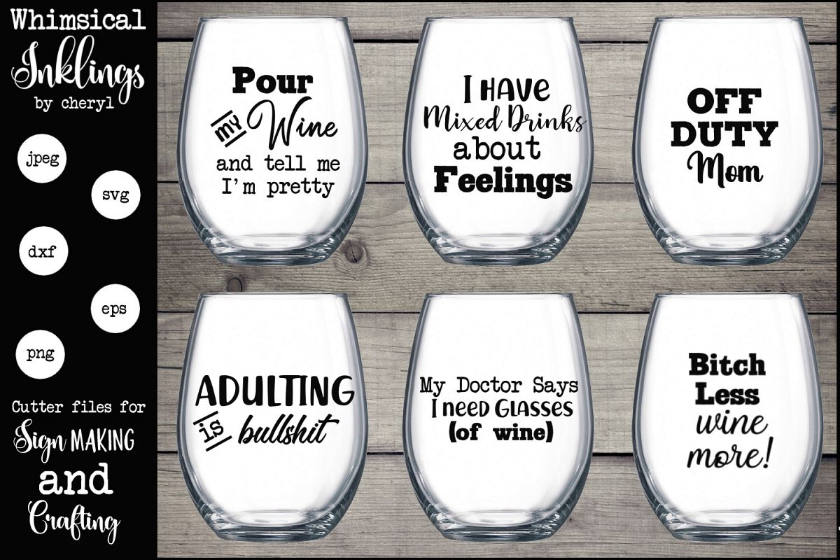 Pour My Wine SVG Set example image 1