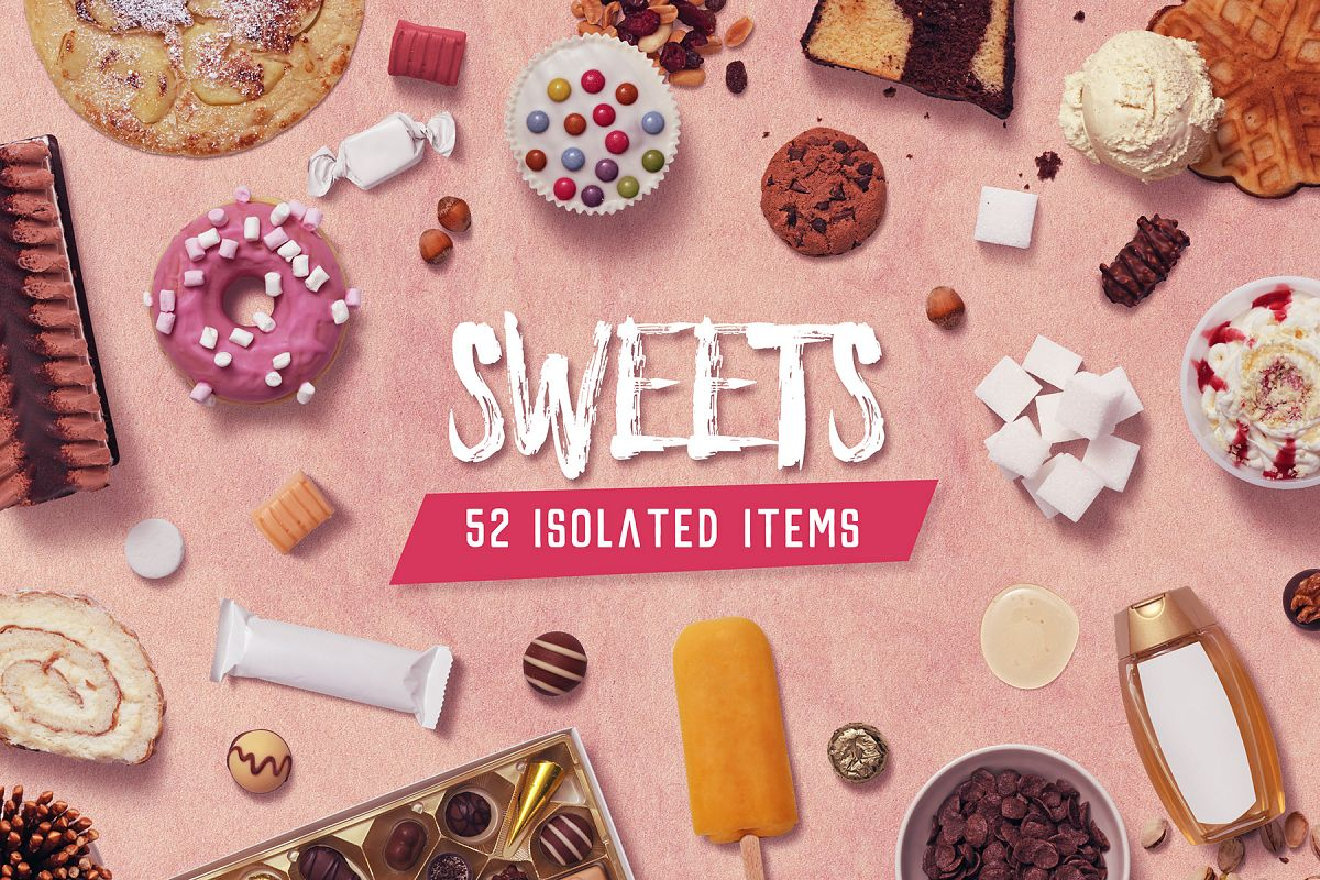Sweets - Isolated Food Items example image 1