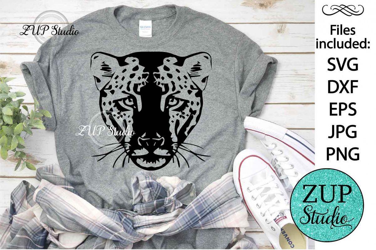 Leopard Face svg design 469 example image 1