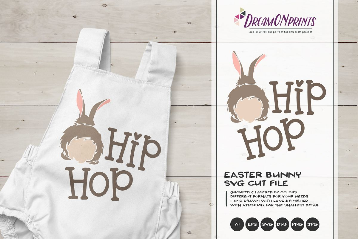 Easter SVG - Easter Bunny SVG Hip Hop example image 1