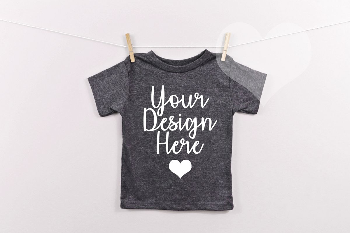 Dark Grey Bella Canvas 3001t Unisex T Shirt Mockup Kids