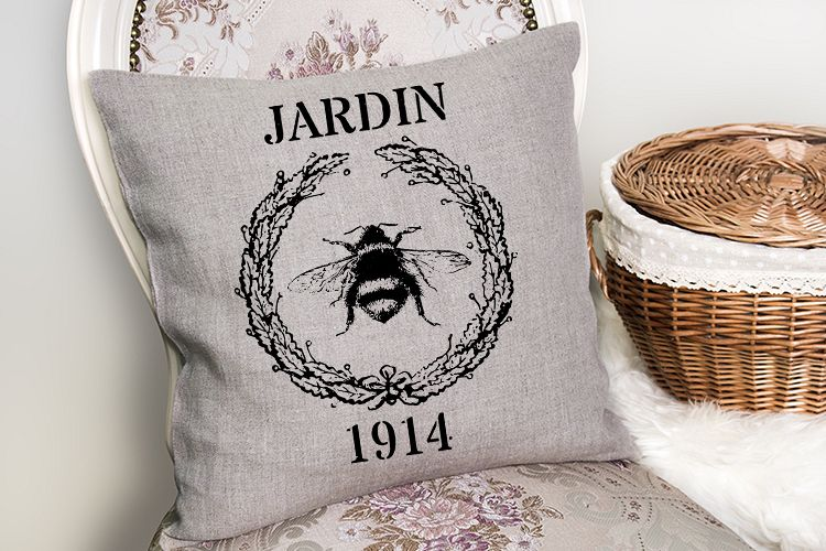 1914 Vintage French Grain sack printable sublimation PNG SVG example image 1