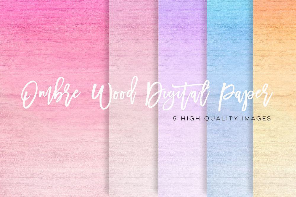 ombre texture paper pack, rainbow ombre paper, Pastel Ombre digital paper, Pink Gradient digital paper, Blue paper, yellow ombre paper lilac example image 1