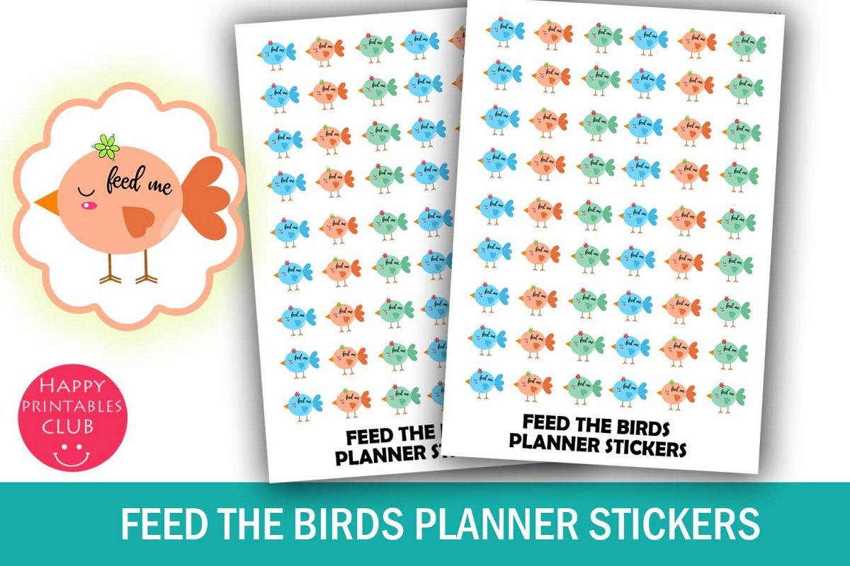 Feed Birds Reminder Planner Stickers- Bird Feeding Stickers example image 1