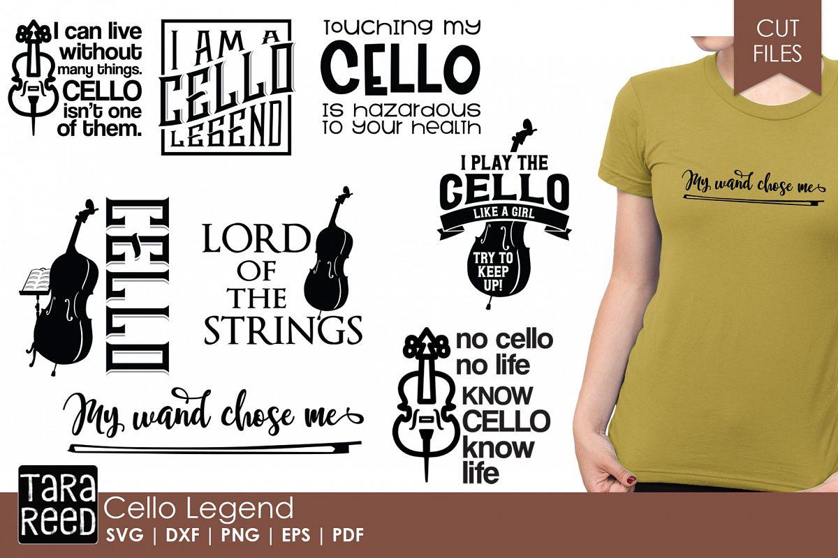 Cello Legend Cello Svg Cut Files For Crafters