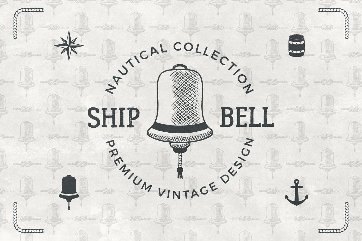 Vintage Nautical Logo Collection example image 1
