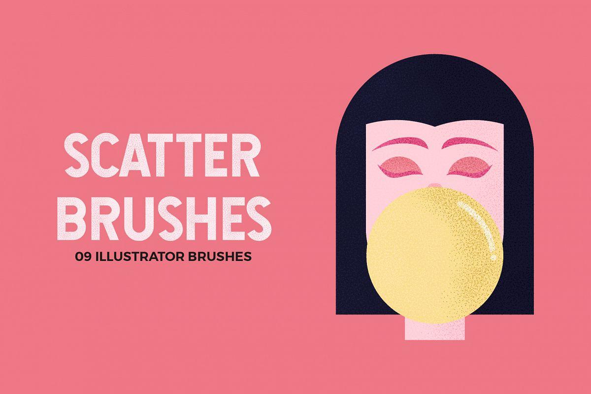 Scatter Brushes for Illustrator example image 1