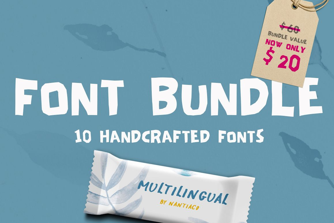 Handwritten Font Bundle Pack example image 1
