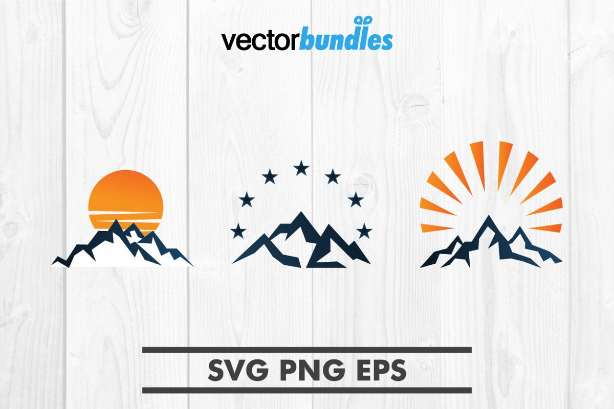 Mountain clip art svg example image 1
