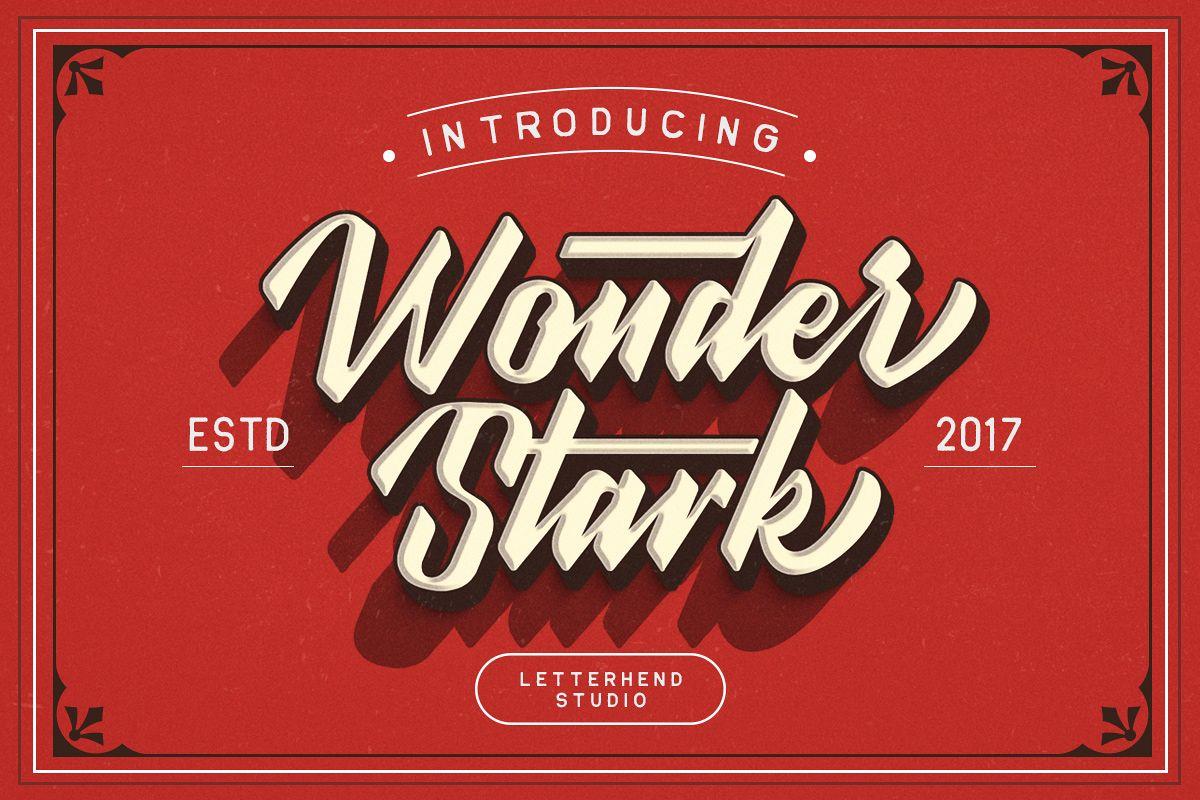 Wonder Stark Font example image 1