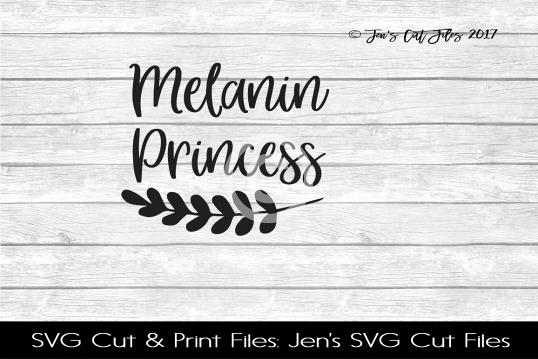 Melanin Princess SVG Cut File example image