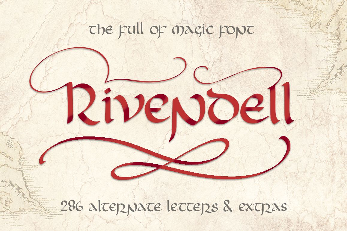 Rivendell. The full of magic font. example image 1