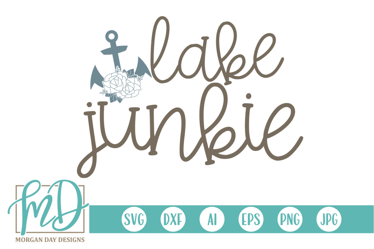 Floral - Lake - Anchor - Lake Junkie SVG example image 1