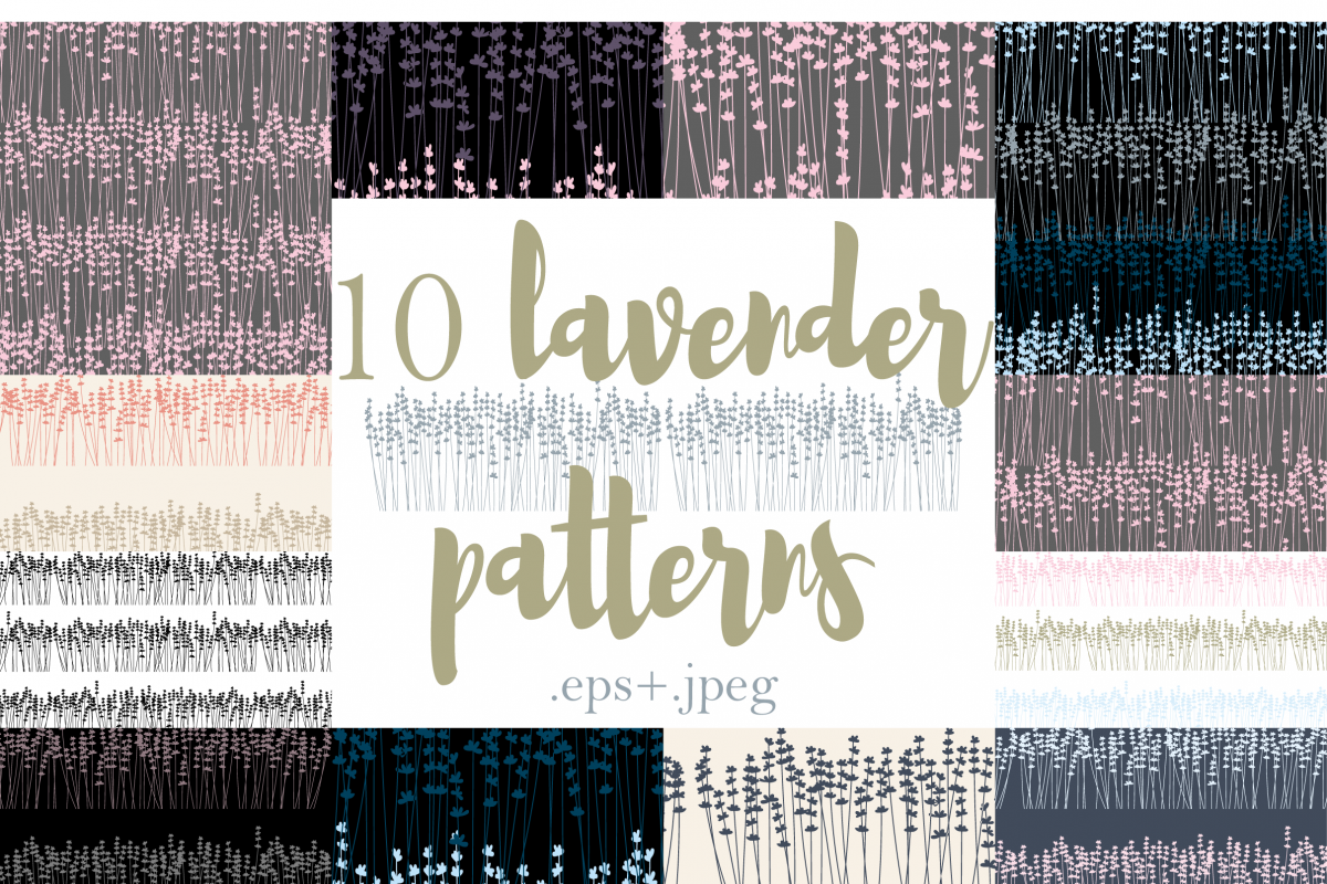 10 Lavender Patterns example image 1