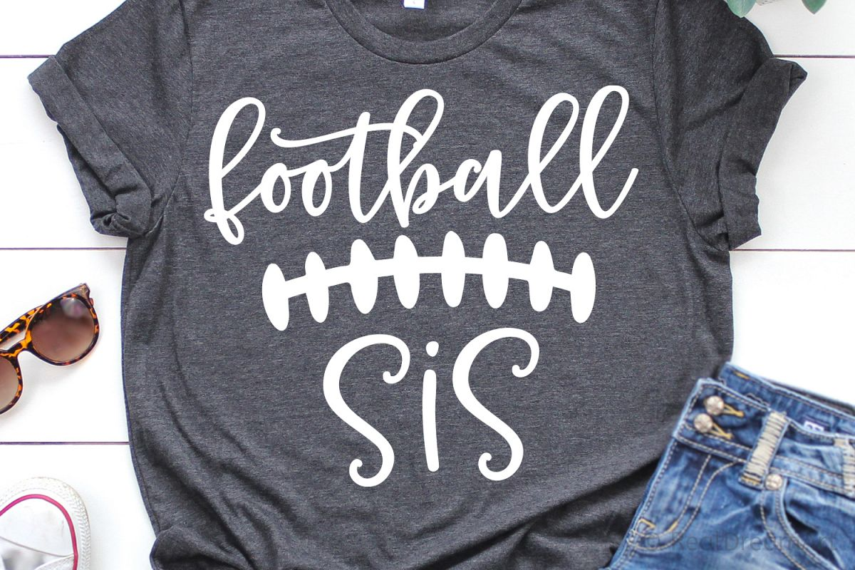 Football Sis SVG, DXF, PNG, EPS example image 1