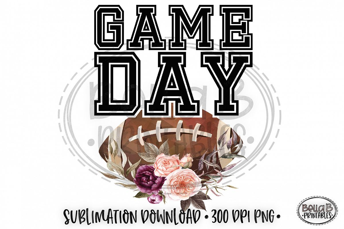 Game Day Sublimation, Football Sublimation Design example image 1