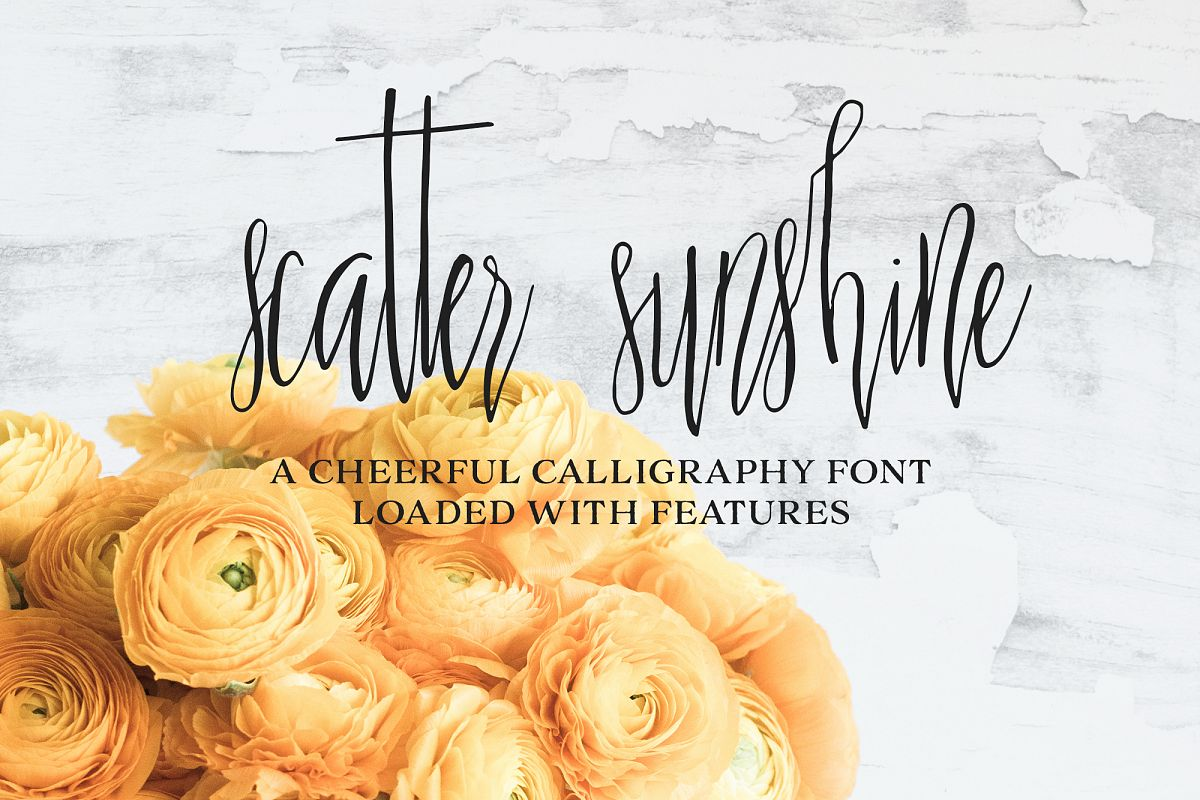 Scatter Sunshine Typeface example image 1