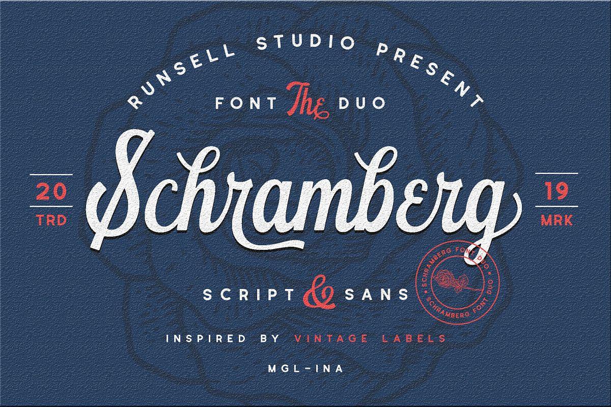 Schramberg Font Duo example image 1