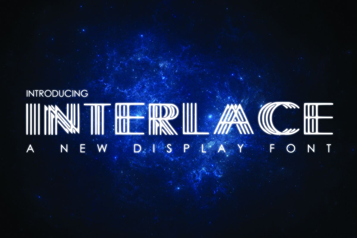 INTERLACE- A Unique Display Font example image 1