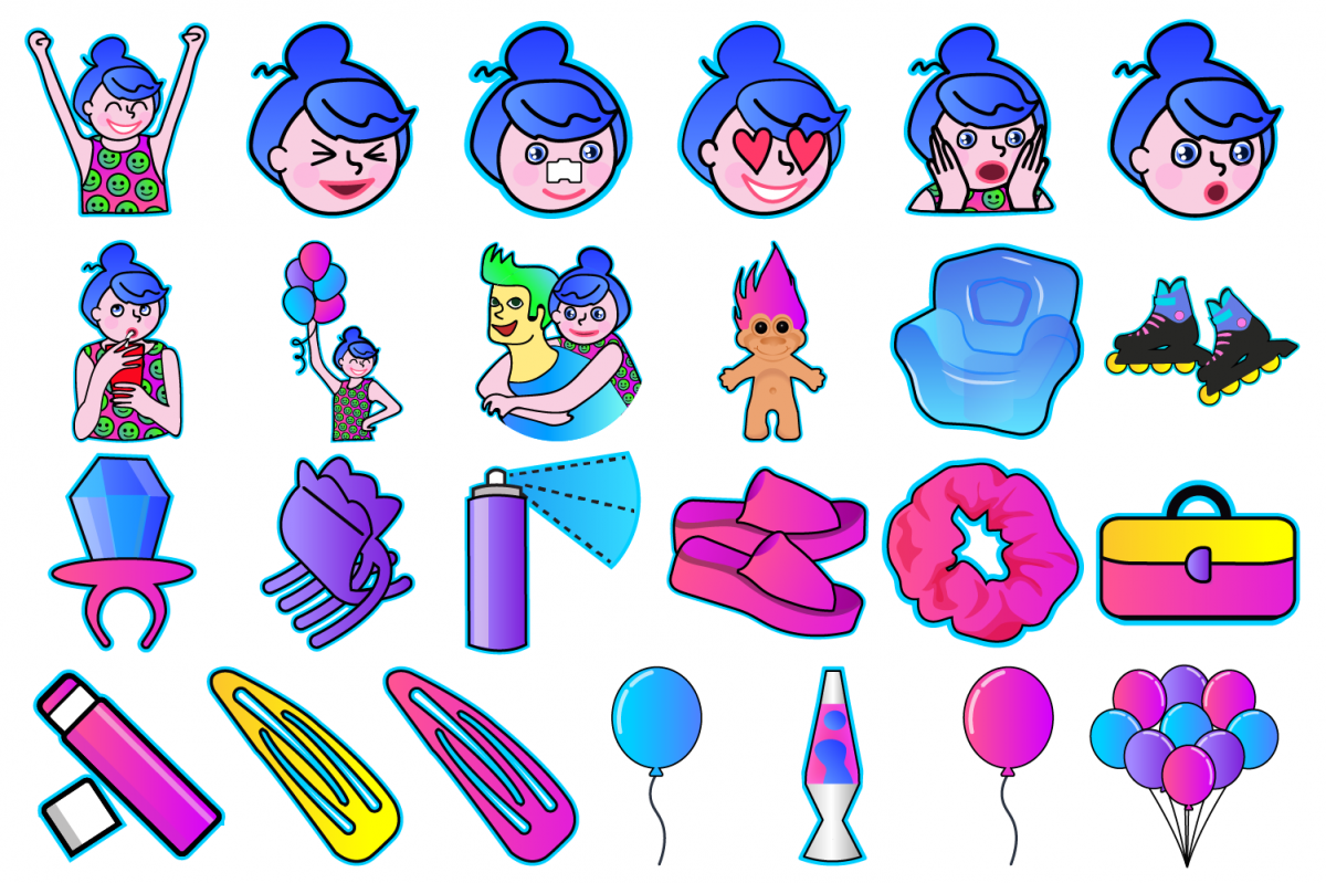 90's Girl Clipart example image 1