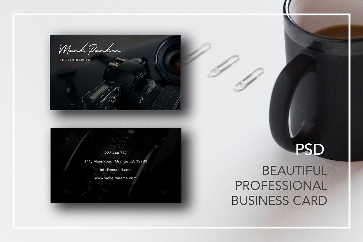 Professional photography business card design bundles professional photography business card example image reheart Image collections