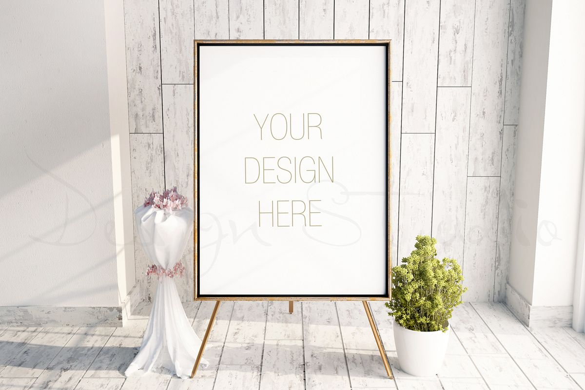 Styled Stock Photography Easel Frame Mockup Psd Frame Mockup