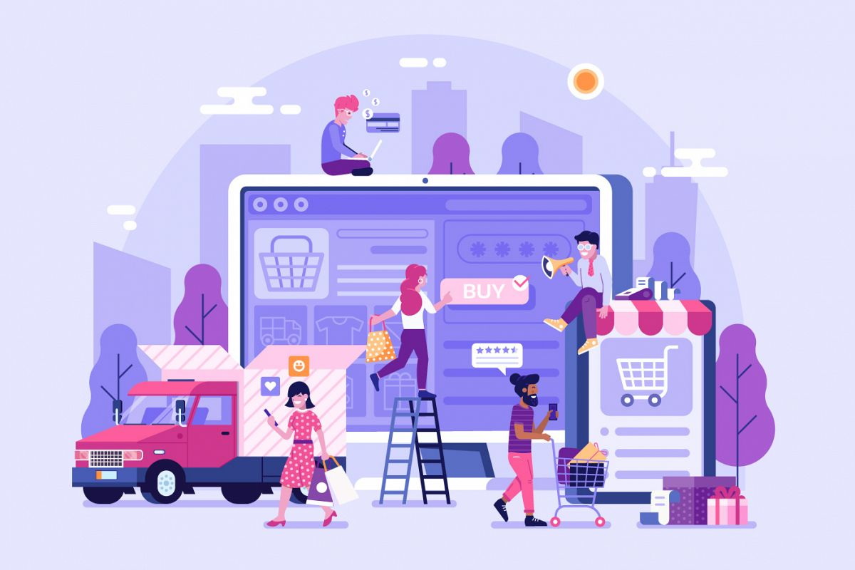Online Shopping Concept Banner example image 1