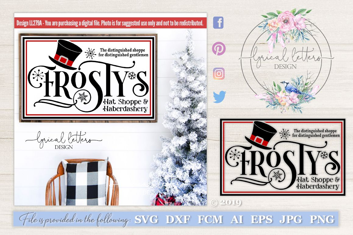 Frosty's Hat Shoppe and Haberdashery SVG LL279A example image 1