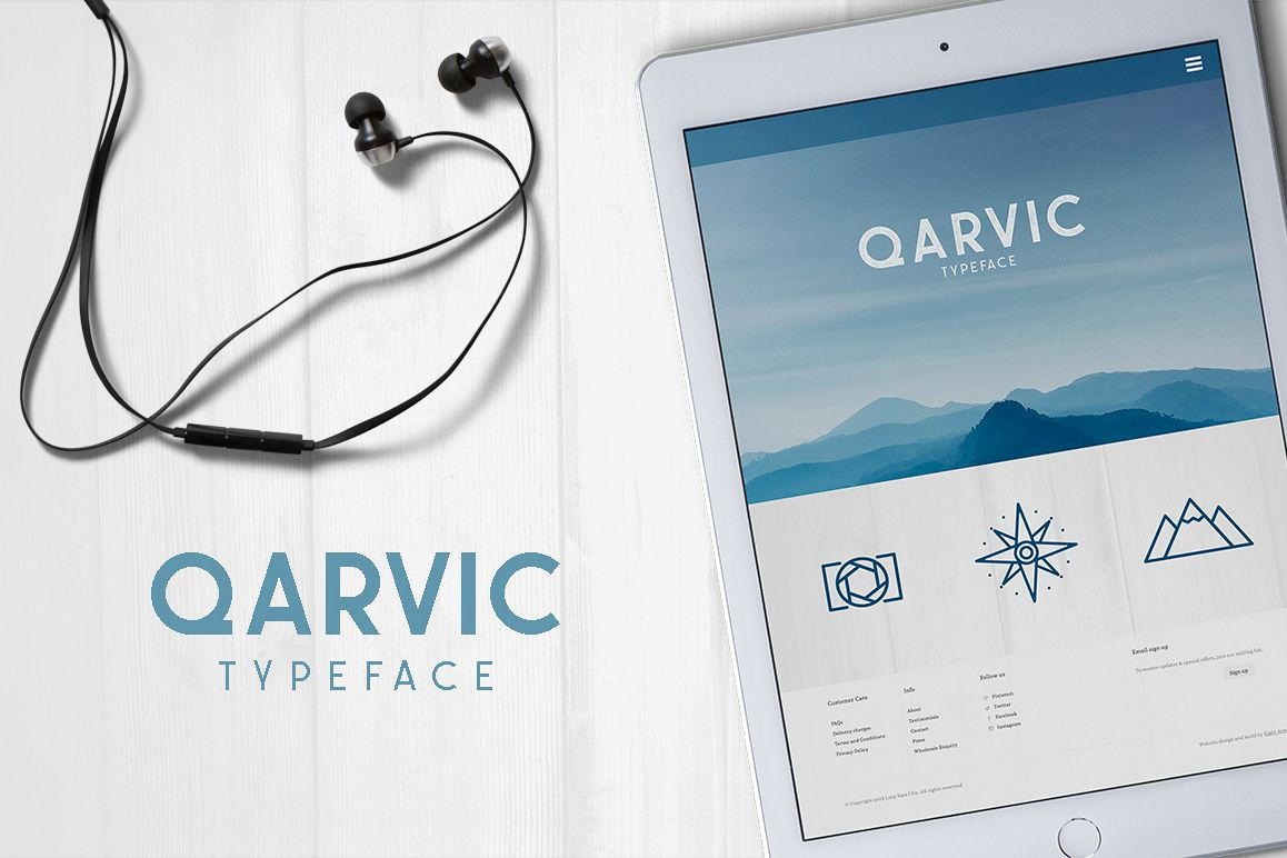 QARVIC Typeface example image 1