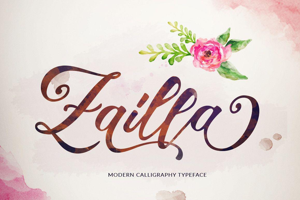 Zailla Script example image