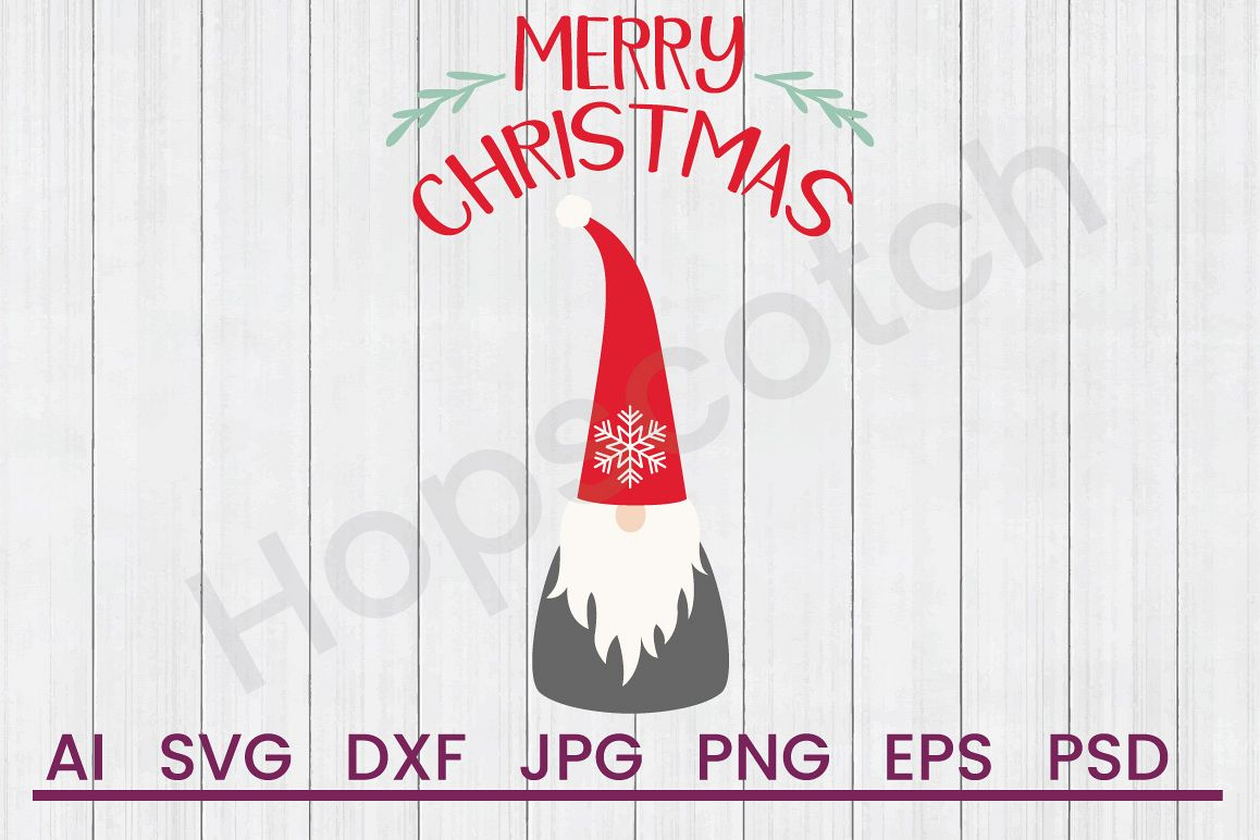 Christmas Gnome Svg.Gnome Svg Merry Christmas Svg Dxf File Cuttable File