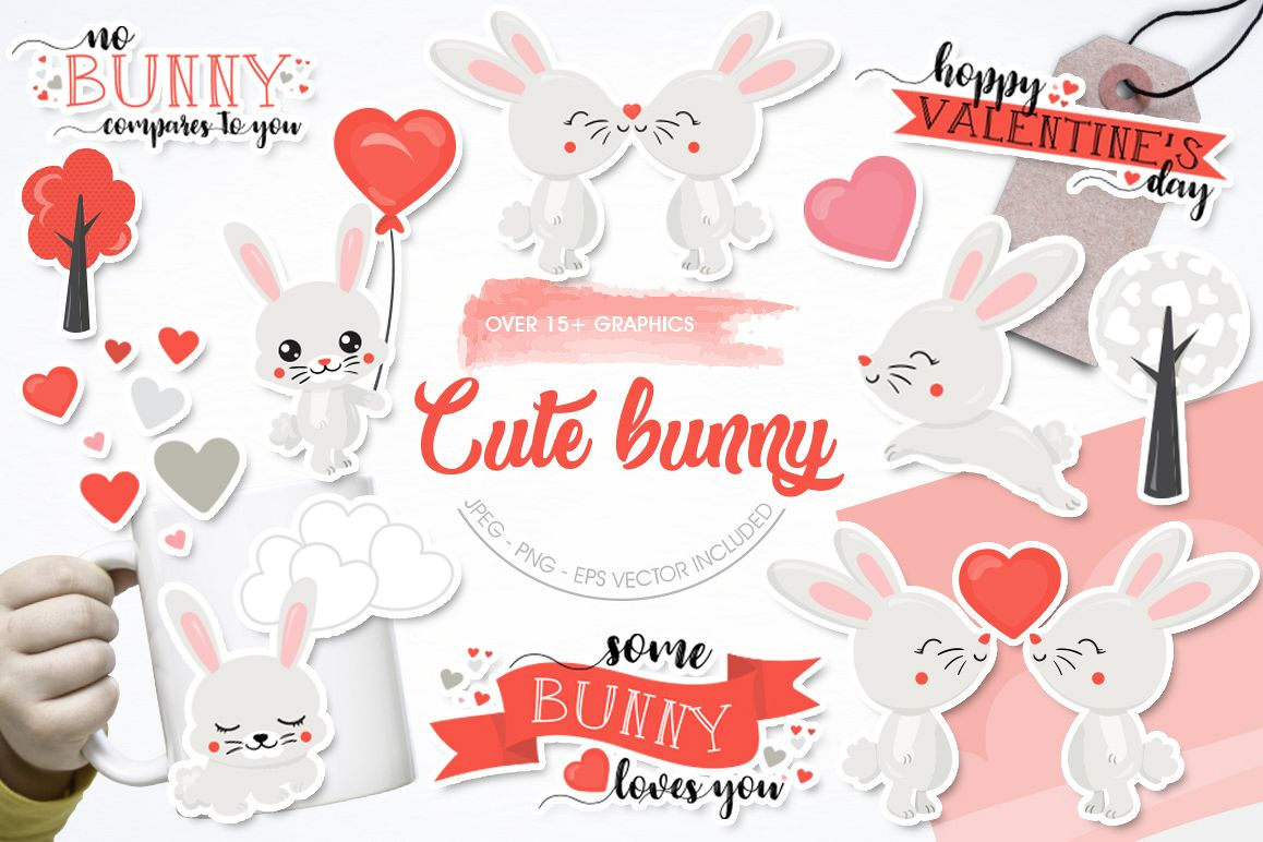Cute Bunny graphic and illustrations example image 1