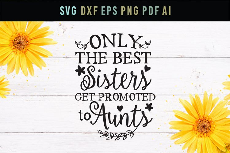 Best sister get promoted to aunts, aunt svg, dxf, eps example image 1