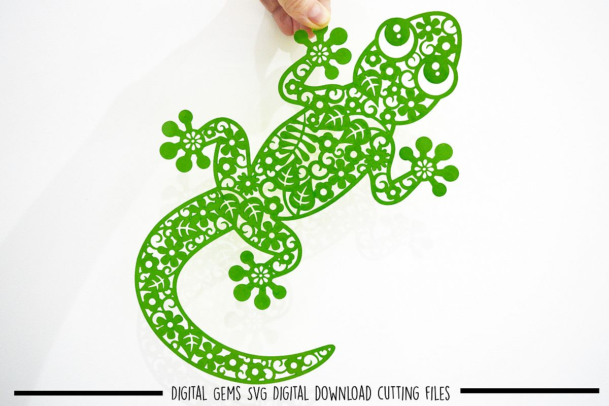 Lizard paper cut SVG / DXF / EPS files example image 1