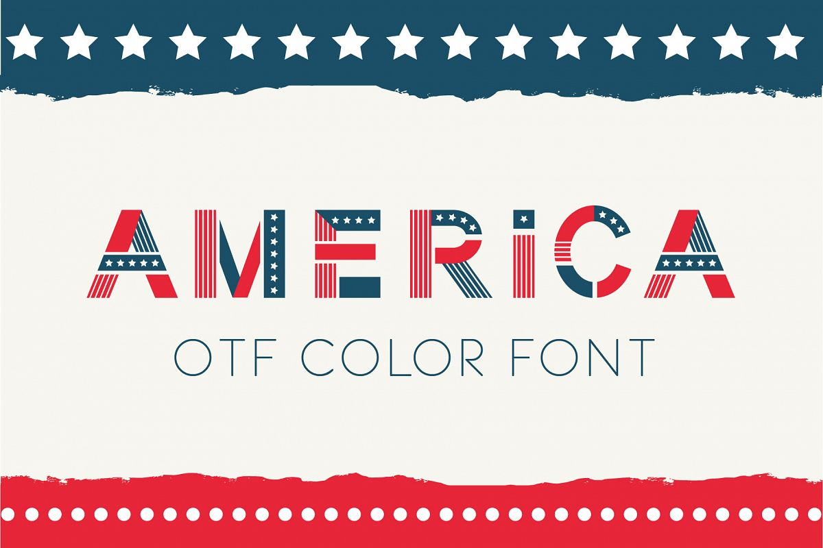 America otf color font example image 1