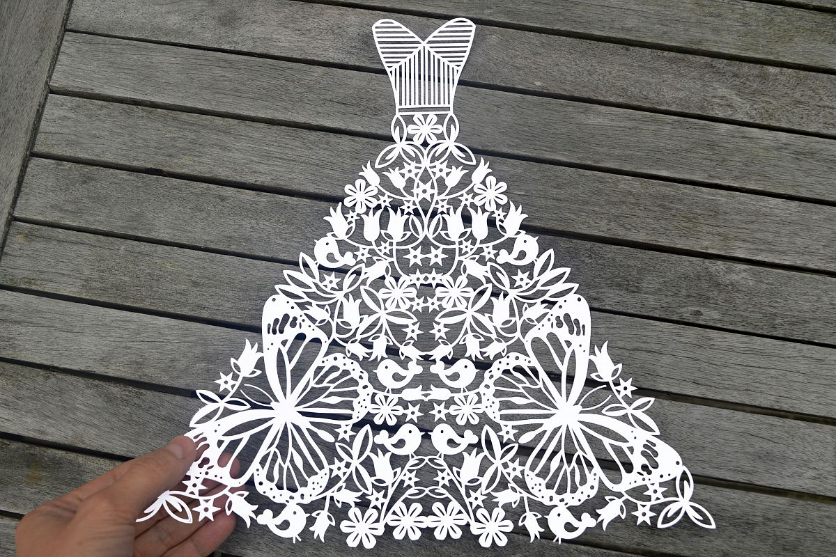 Wedding Dress SVG DXF EPS Files