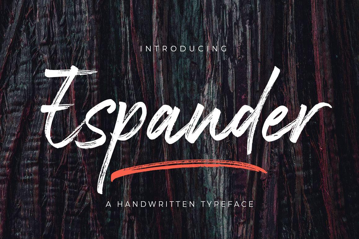 Espander - Handwritten Typeface example image 1