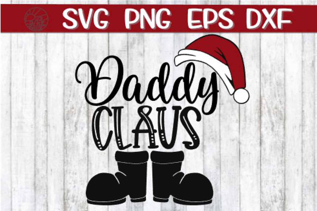 Daddy Claus - SVG PNG EPS DXF example image 1