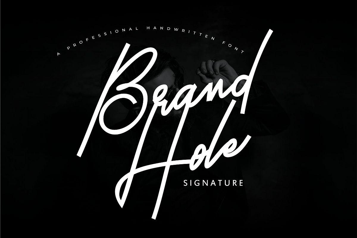 Brand Hole | Handwritten Signature Font example image 1