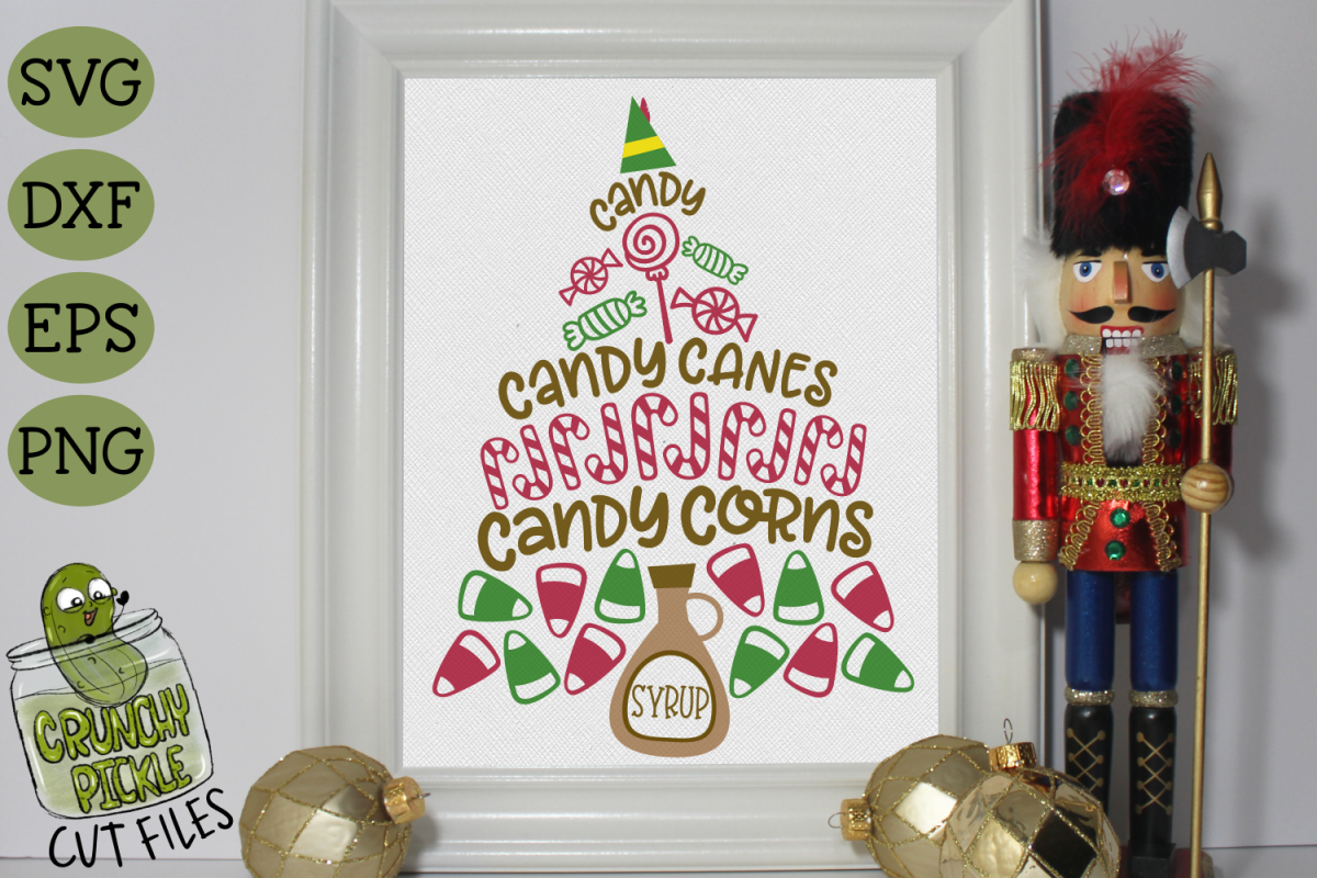 Candy & Syrup Elf Diet Christmas Phrase SVG example image 1